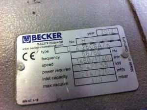 Becker vákuumszivattyú javítás